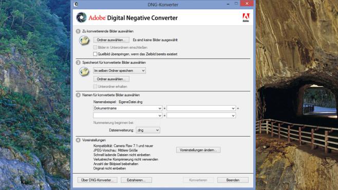 Adobe DNG Converter & Camera Raw: RAW in DNG verwandeln ©COMPUTER BILD