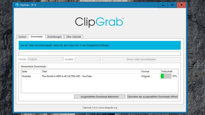 ClipGrab: Schlanker YouTube-Downloader ©COMPUTER BILD