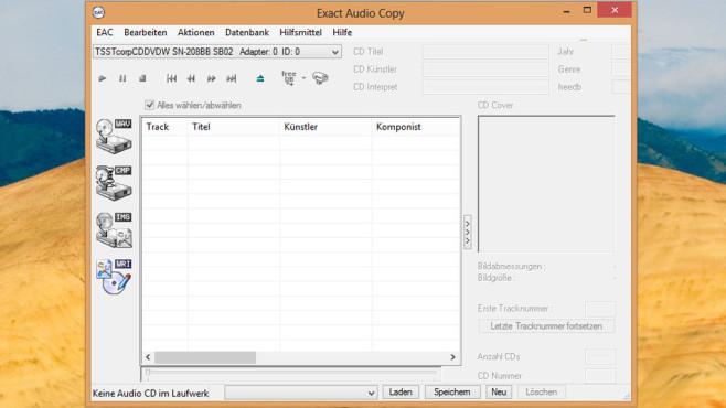Exact Audio Copy (EAC): CD-Musik mit guter Qualität sichern ©COMPUTER BILD