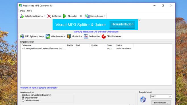 Free M4a to MP3 Converter: Hörbücher alltagstauglicher machen ©COMPUTER BILD