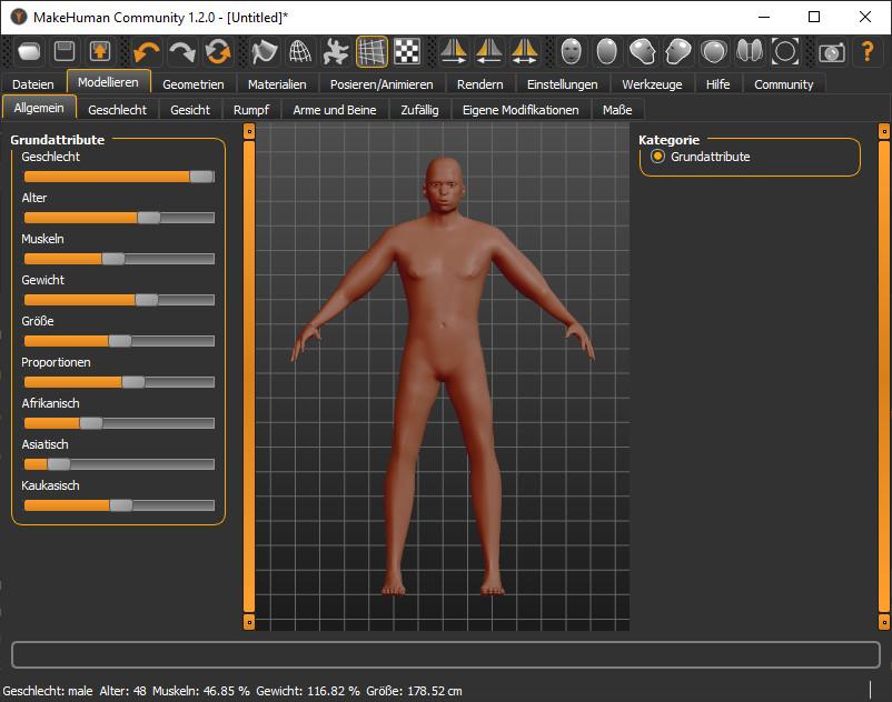 Screenshot 1 - MakeHuman