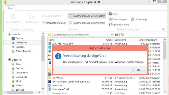 Aborange Crypter: Zwischenablage verschlüsseln ©COMPUTER BILD