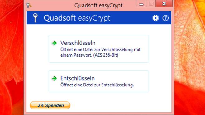 EasyCrypt: Einzelne Dateien verschlüsseln©COMPUTER BILD