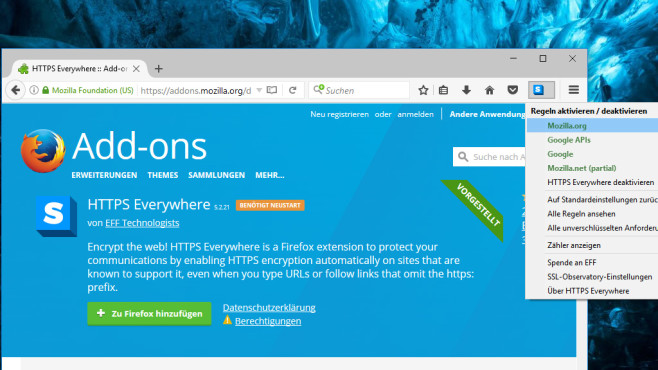 HTTPS Everywhere: Sichere Surf-Kontakte erzwingen © COMPUTER BILD