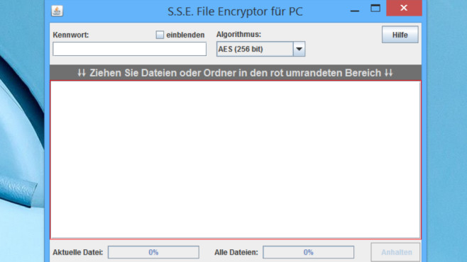 Paranoia File Encryptor for Windows: Java-basierte Dateiverschlüsselung © COMPUTER BILD