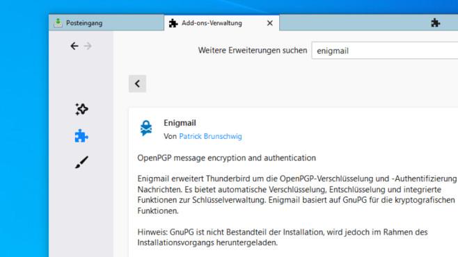 Thunderbird, Gpg4win: Verschlüsselt mailen ©COMPUTER BILD