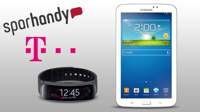 Sparhandy-Deal: Sichern Sie sich ein S5 oder Z2 mit kostenlosem Tablet.©Samsung, Sparhandy, Telekom