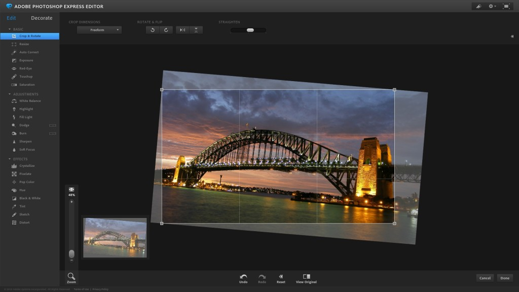 Screenshot 1 - Adobe Photoshop Express Editor