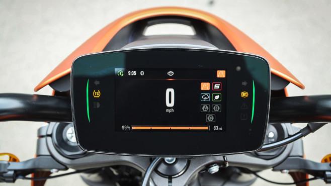 Harley-Davidson Livewire: Cockpit mit Navi©Harley-Davidson