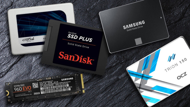Der große SSD-Guide©Maksim Shebeko – Fotolia.com, Crucial, OCZ, Sandisk, Samsung