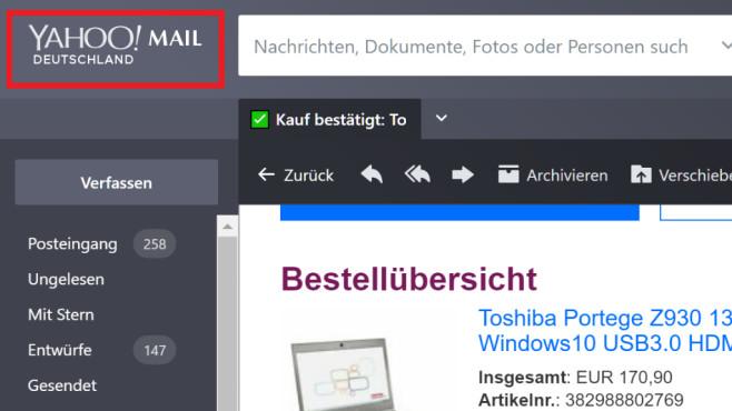 Zurück zur Homepage oder in den Posteingang ©COMPUTER BILD