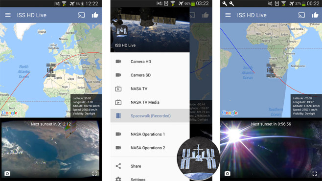 ISS HD Live – Unsere Erde live ©VKL Apps