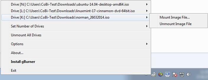Screenshot 1 - gBurner Virtual Drive