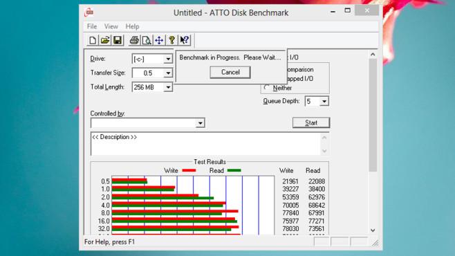 ATTO Disk Benchmark: Leistung bewerten mit vielen Einstellungen ©COMPUTER BILD