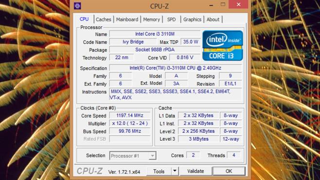 CPU-Z: Prozessor analysieren, benchmarken und stressen ©COMPUTER BILD