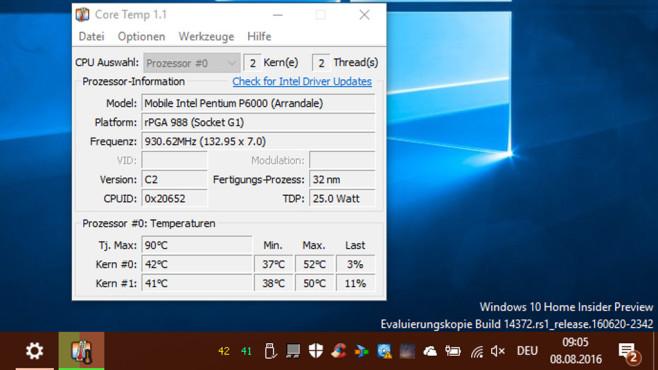 CoreTemp und CoreInfo: Prozessor analysieren ©COMPUTER BILD