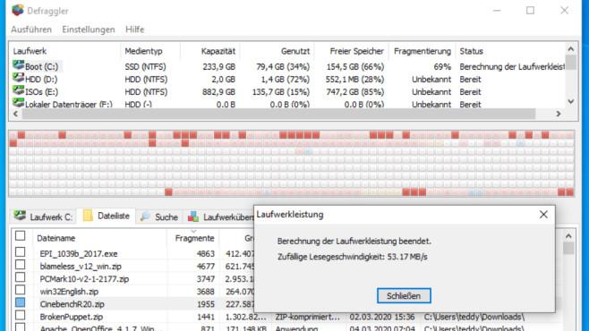 Defraggler: Defragmentieren und Dateien messen ©COMPUTER BILD