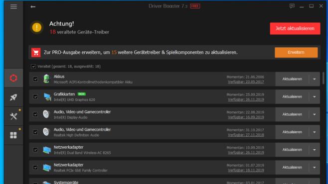 Driver Booster Free: Installierte Treiber einsehen und aktualisieren ©COMPUTER BILD