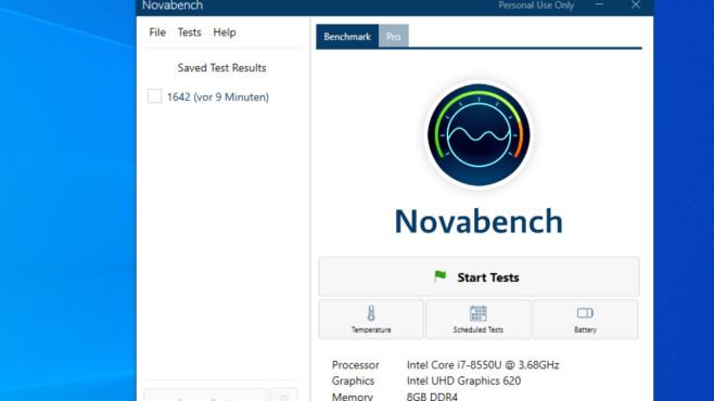 NovaBench: CPu, RAM, GPU, SSD benchmarken ©COMPUTER BILD