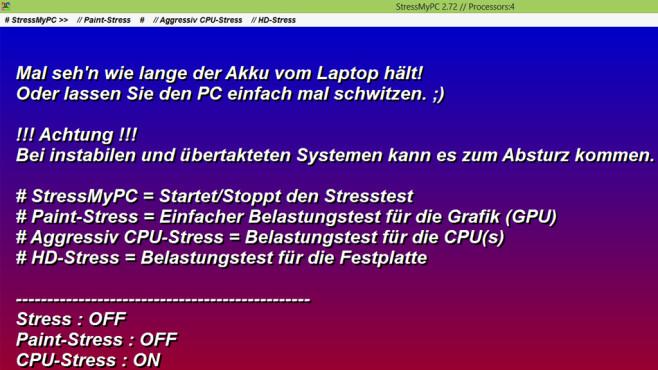 StressMyPC: Prozessor und Festplatte stressen ©COMPUTER BILD