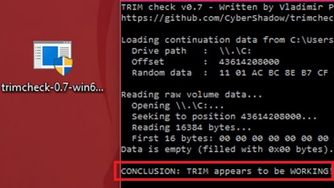 Trimcheck: SSD-Selbstoptimierung kontrollieren ©COMPUTER BILD