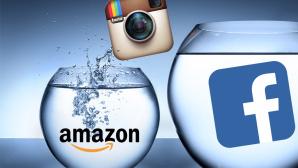 Instagram-Bilder jetzt auf Facebook-Servern©RFsole - Fotolia.com, Instagram, Amazon, Facebook