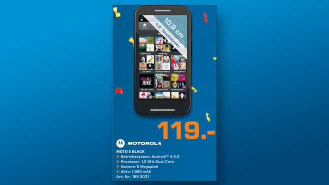 Motorola Moto E ©Saturn