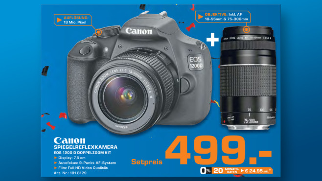 Canon EOS 1200D Kit 18-55 mm + 75-300 mm ©Saturn