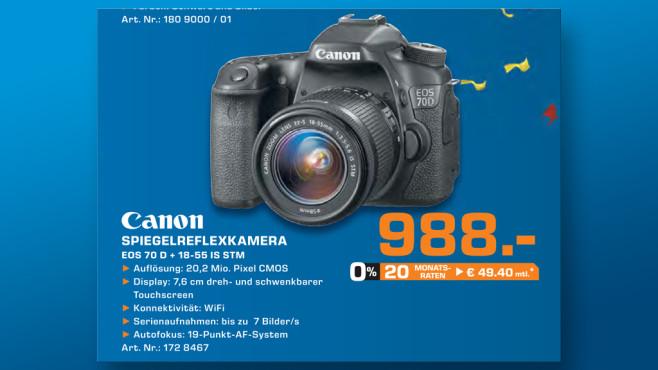 Canon EOS 70D Kit 18-55 mm ©Saturn