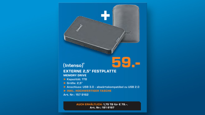 Intenso Memory Drive USB 3.0 1TB ©Saturn