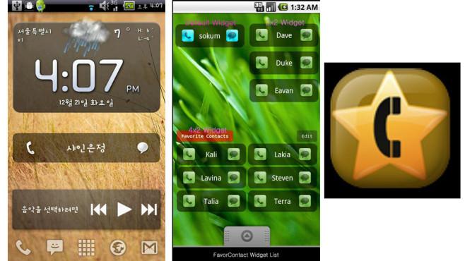 Favorite Contact Widget (0,67 Euro) ©sokum.net