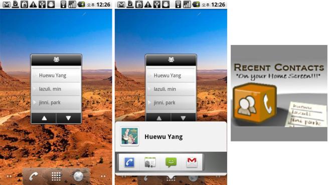 Recent Contacts Widget (kostenlos) ©huewu.yang