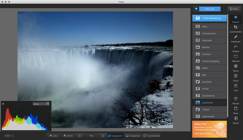 Screenshot 1 - Fotor (Mac)