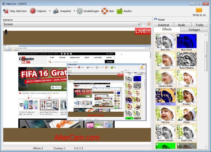 Screenshot 1 - AlterCam