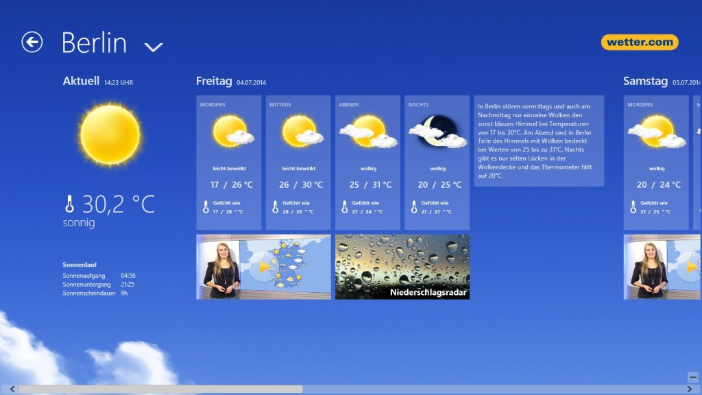 Screenshot 1 - Wetter.com (App für Windows 10 & 8)