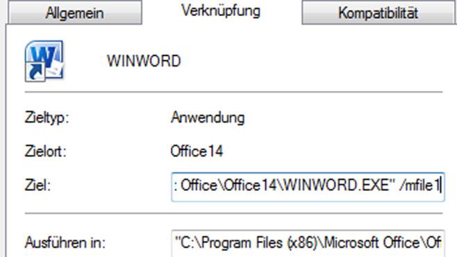 Desktop-Verknüpfung ©Microsoft/COMPUTER BILD