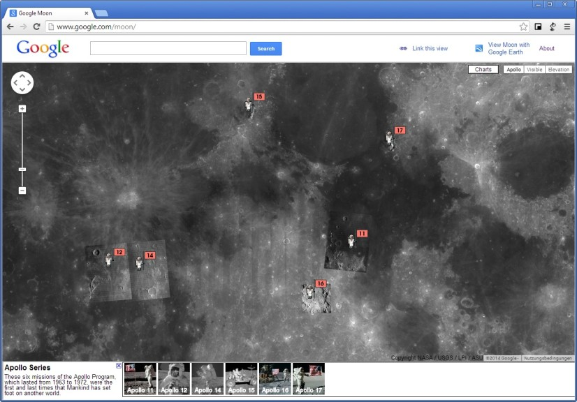 Screenshot 1 - Google Moon