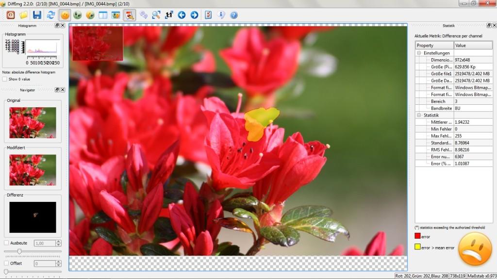 Screenshot 1 - DiffImg Portable