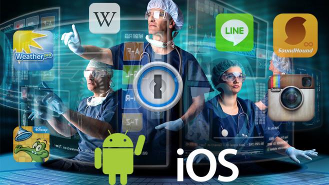 Die beliebtesten Apps im Test©Luis Louro - Fotolia.com, Apple, Android