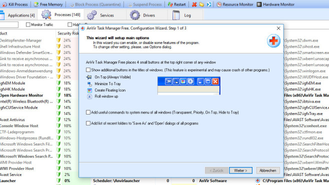 AnVir Task Manager Free ©COMPUTER BILD
