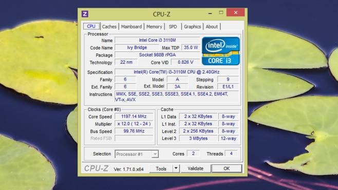 CPU-Z ©COMPUTER BILD