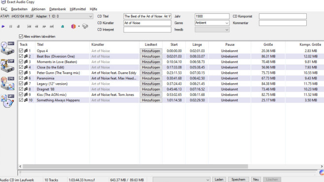 Exact Audio Copy (EAC) ©COMPUTER BILD