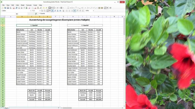 Free Excel Viewer ©COMPUTER BILD