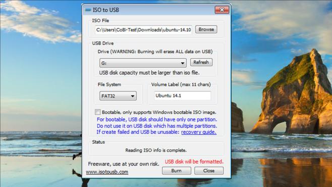 ISO to USB ©COMPUTER BILD