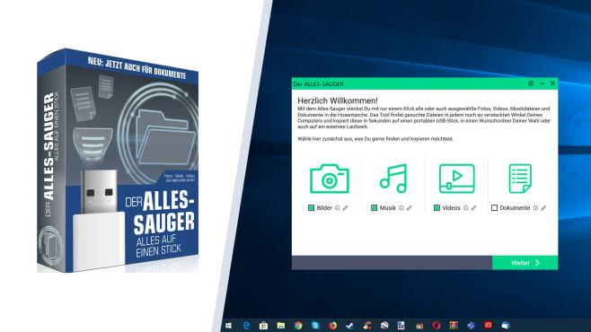 Mini-Tools: Die 100 besten kleine Programme gratis zum Download Der redaktionseigene Alles-Sauger verwandelt USB-Sticks in ein Sicherungsmedium für alle Ihre PC-Dateien.©COMPUTER BILD