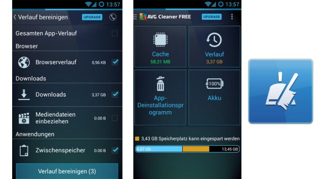AVG Cleaner ©AVG Mobile