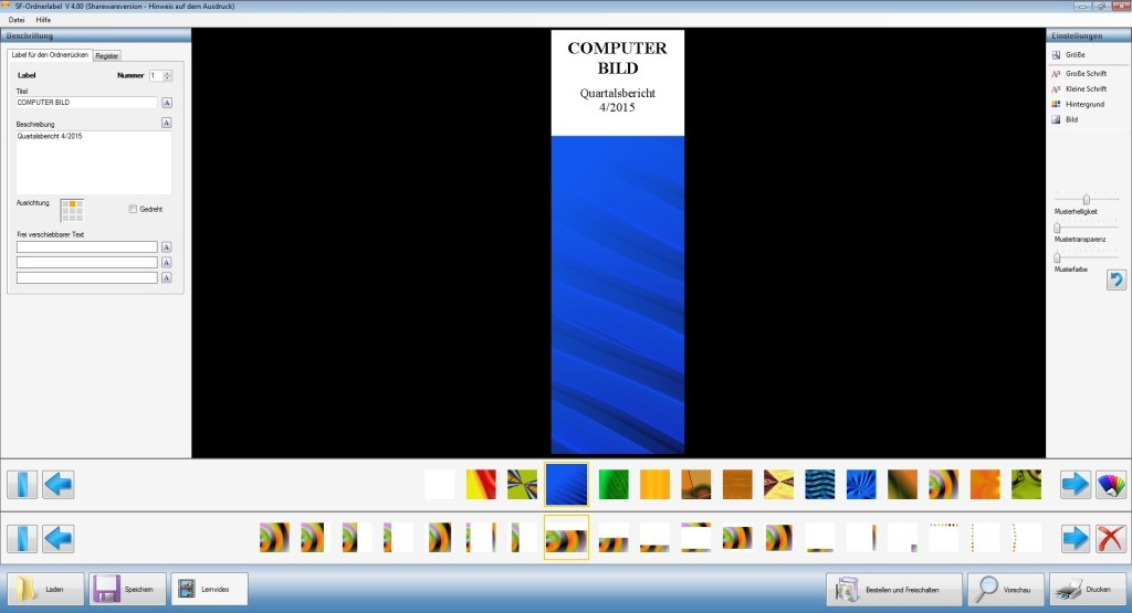 Screenshot 1 - SF-Ordnerlabel