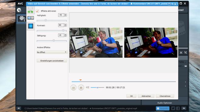 Gratis-Tools zur Videobearbeitung - Bilder, Screenshots - COMPUTER BILD