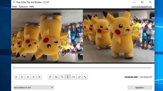 Free Video Flip and Rotate: Inhalte ins richtige Format drehen ©COMPUTER BILD