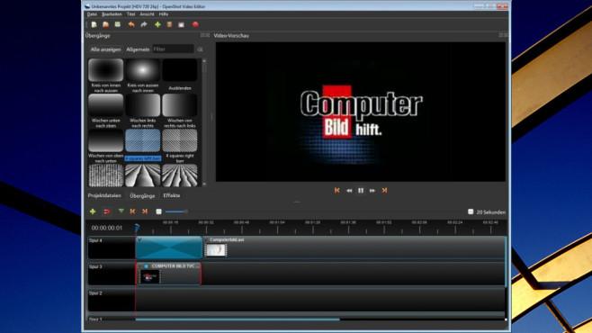 OpenShot Video Editor: Titel- und Effekte-Spezialist ©COMPUTER BILD